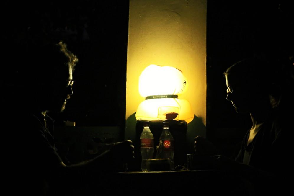 Stirnlampen-Lampion-Dinner